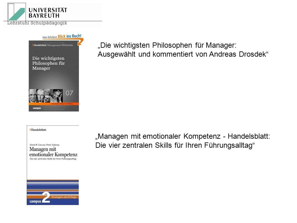 """""""Die wichtigsten Philosophen für Manager:"""