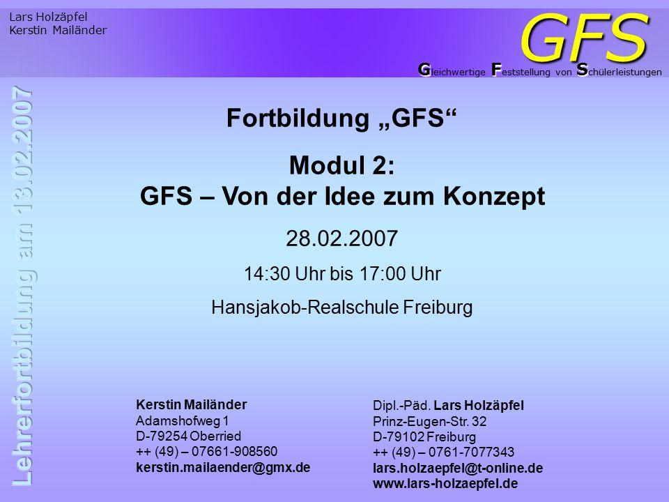 Modul 2: GFS – Von der Idee zum Konzept