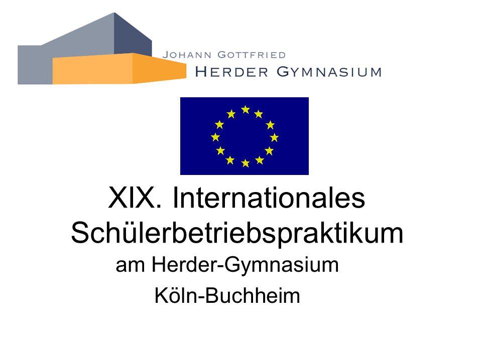 XIX. Internationales Schülerbetriebspraktikum