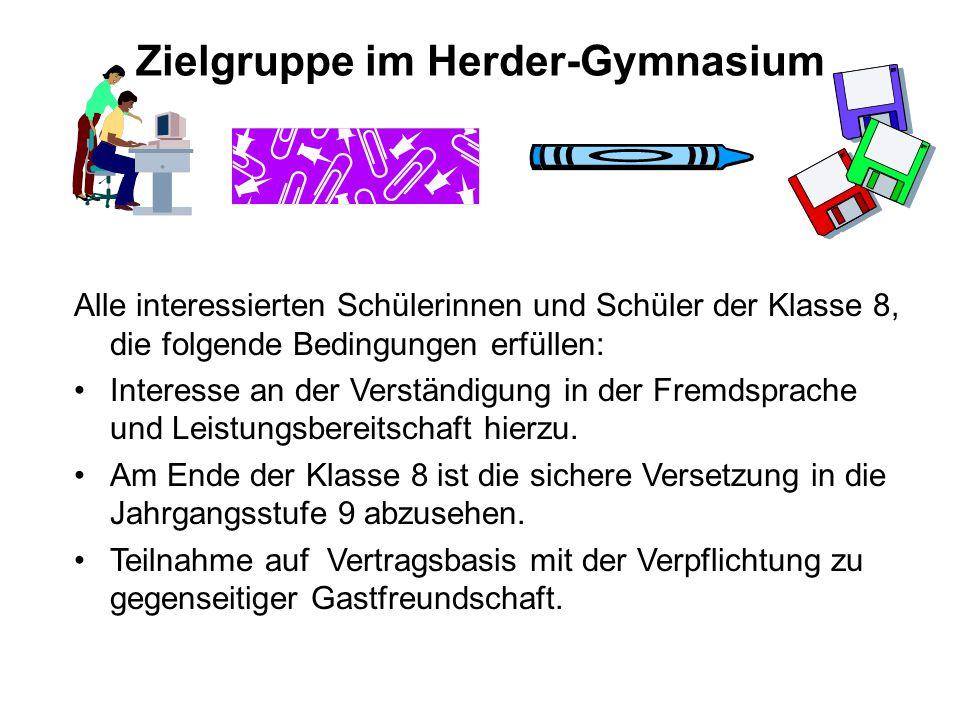 Zielgruppe im Herder-Gymnasium