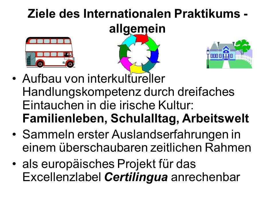 Ziele des Internationalen Praktikums - allgemein