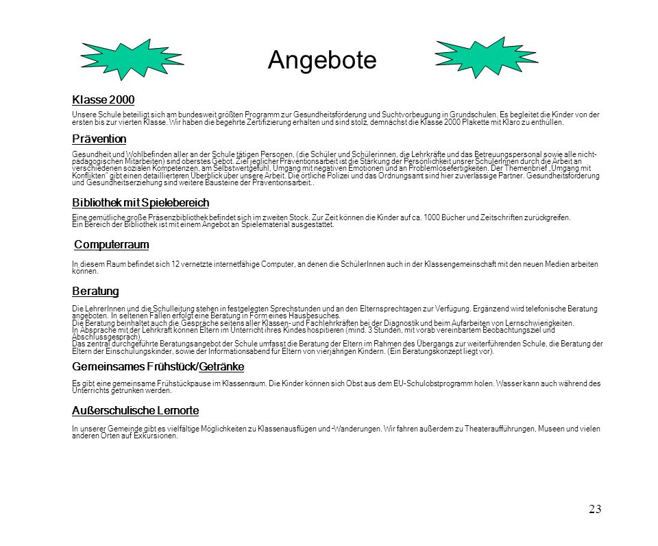 Angebote Außerschulische Lernorte Klasse 2000 Prävention Beratung