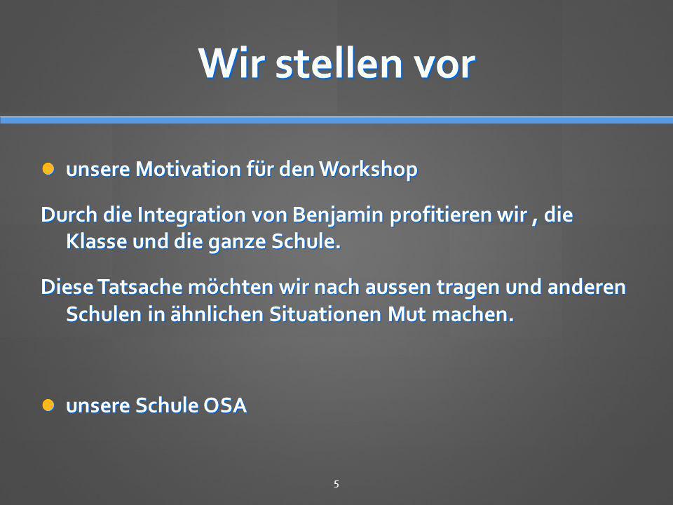 Wir stellen vor unsere Motivation für den Workshop