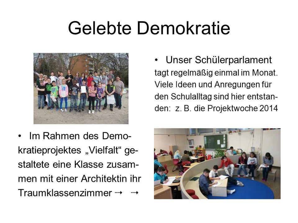 Gelebte Demokratie Unser Schülerparlament Im Rahmen des Demo-