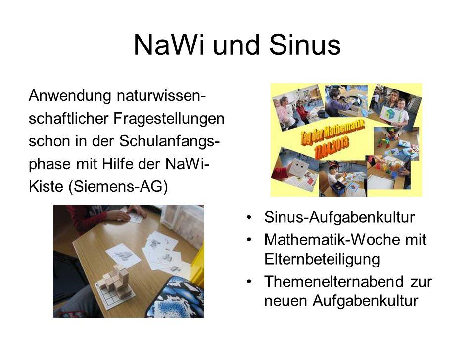 NaWi und Sinus Anwendung naturwissen- schaftlicher Fragestellungen schon in der Schulanfangs- phase mit Hilfe der NaWi- Kiste (Siemens-AG)