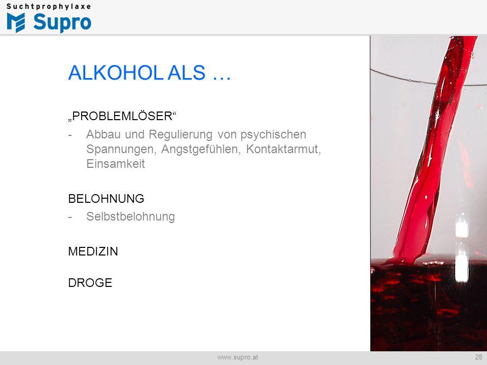 """ALKOHOL ALS … """"PROBLEMLÖSER"""
