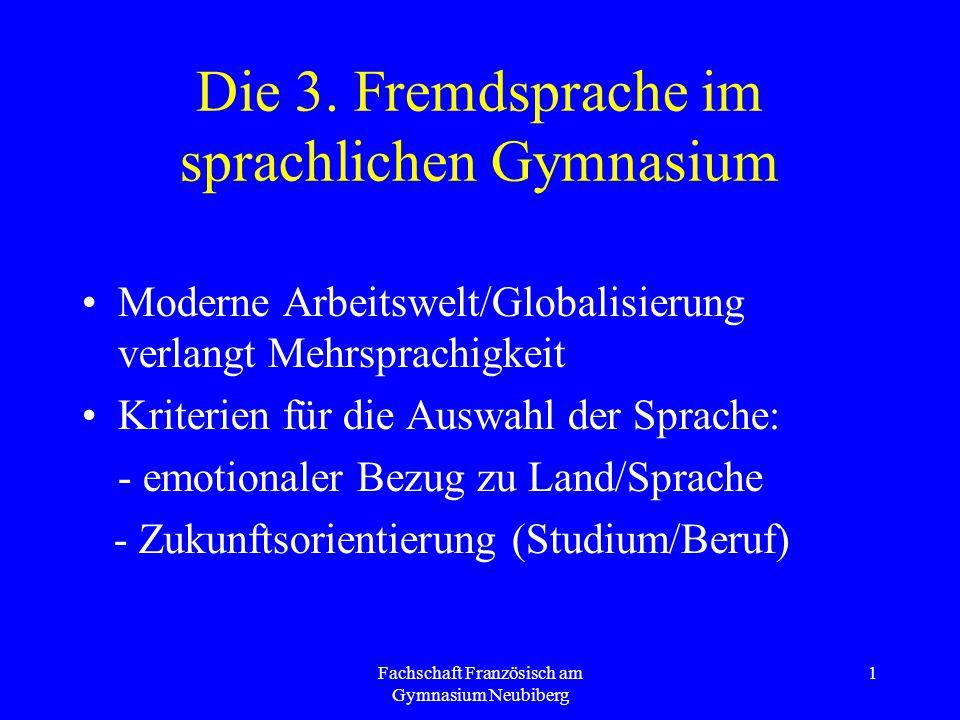 Die 3. Fremdsprache im sprachlichen Gymnasium