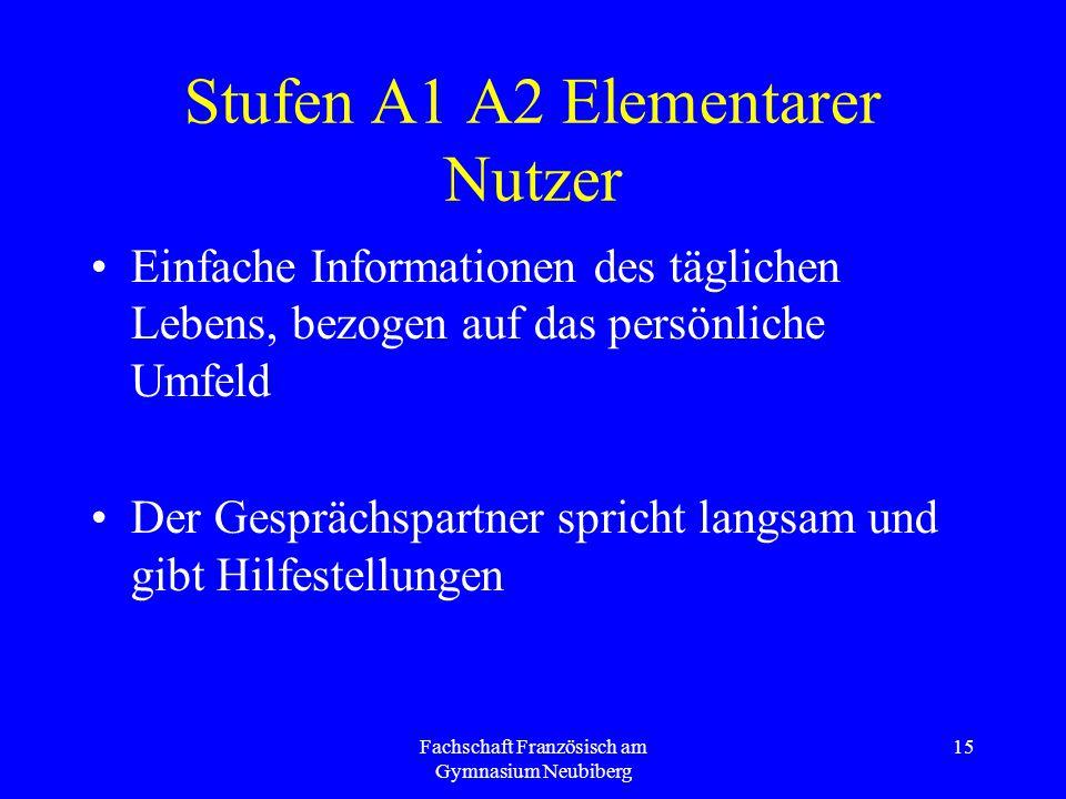 Stufen A1 A2 Elementarer Nutzer