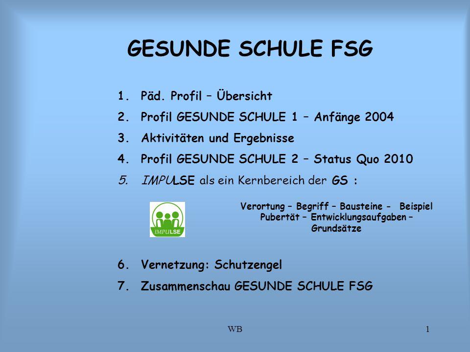 GESUNDE SCHULE FSG Päd. Profil – Übersicht