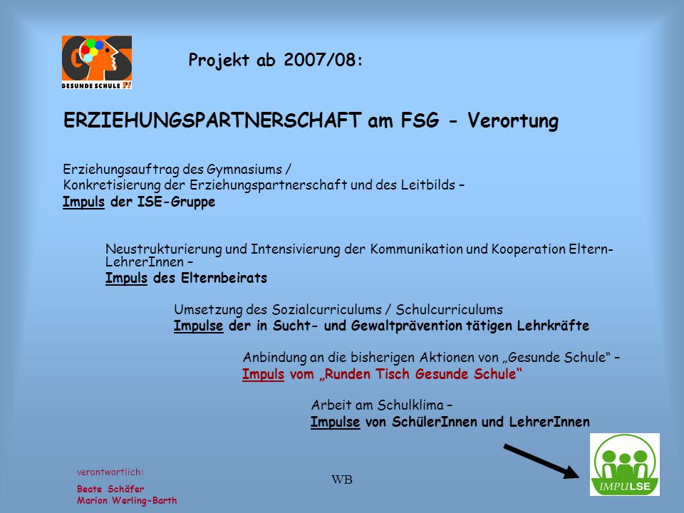 ERZIEHUNGSPARTNERSCHAFT am FSG - Verortung