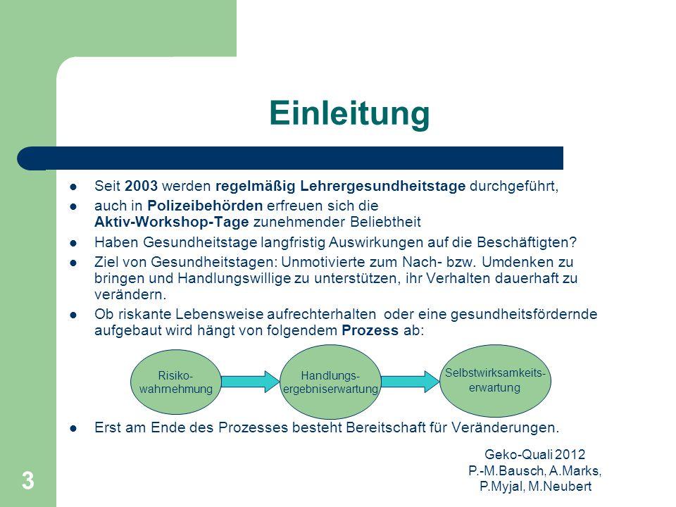 Geko-Quali 2012 P.-M.Bausch, A.Marks, P.Myjal, M.Neubert