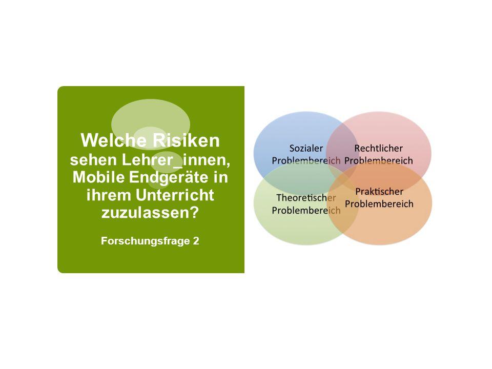 Welche Risiken sehen Lehrer_innen, Mobile Endgeräte in ihrem Unterricht zuzulassen