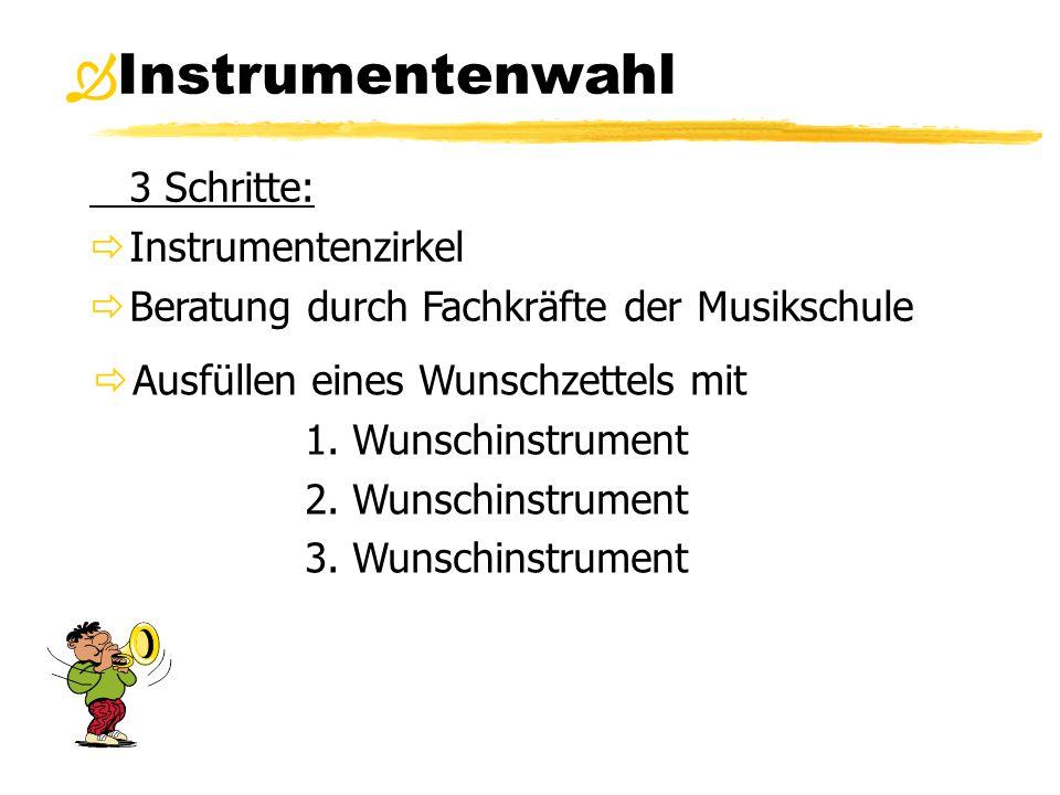 Instrumentenwahl 3 Schritte: Instrumentenzirkel