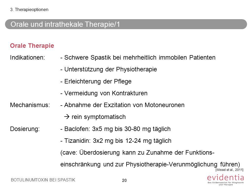 Orale und intrathekale Therapie/1