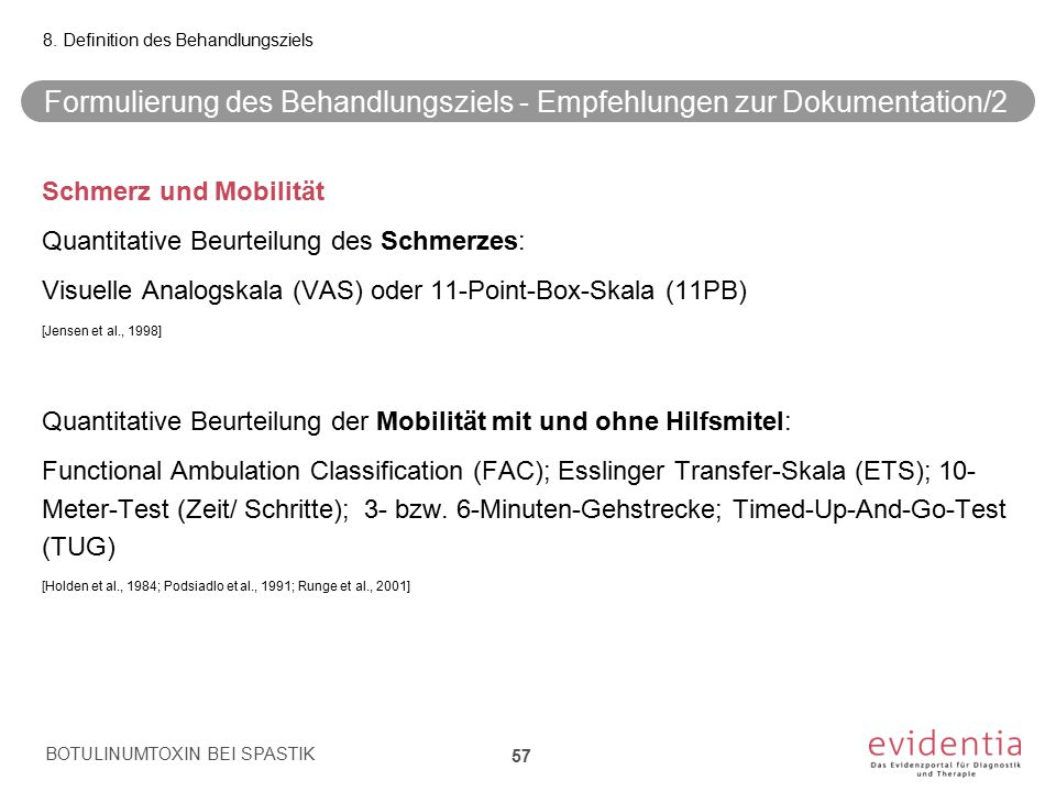 Formulierung des Behandlungsziels - Empfehlungen zur Dokumentation/2