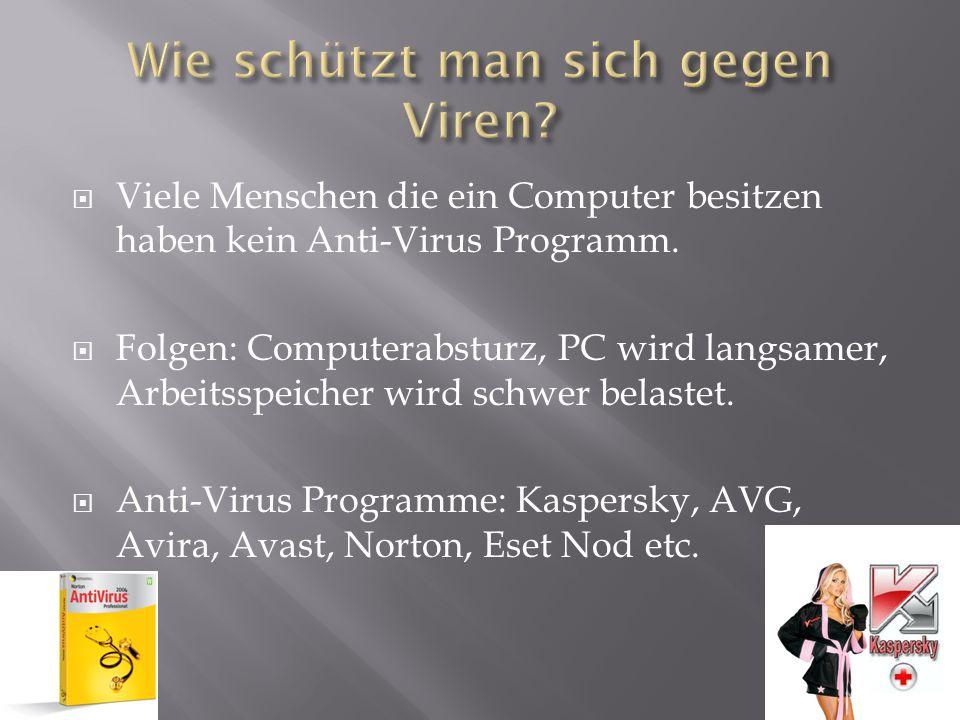 Wie schützt man sich gegen Viren