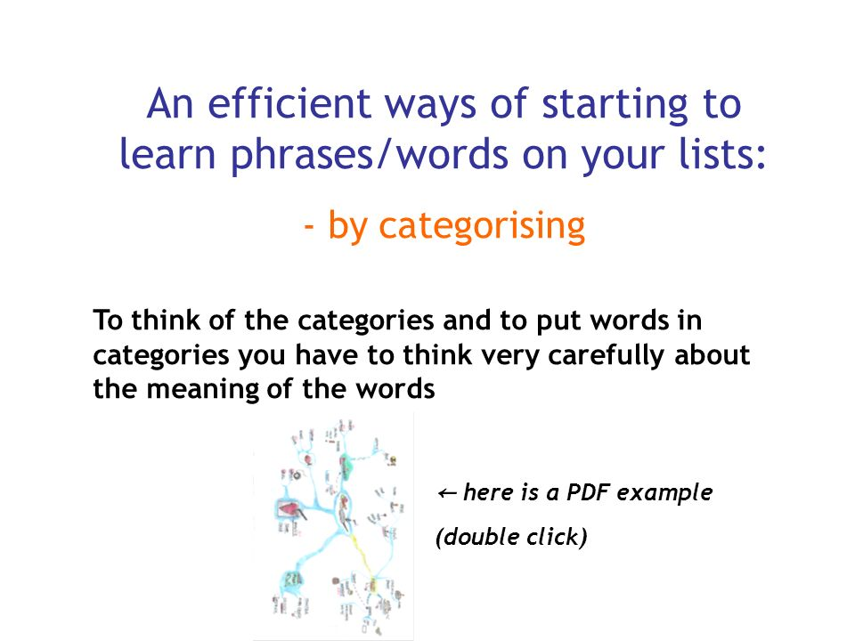An efficient ways of starting to learn phrases/words on your lists: