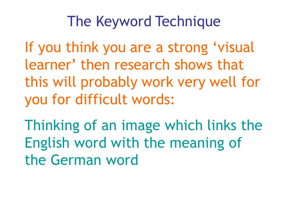 The Keyword Technique