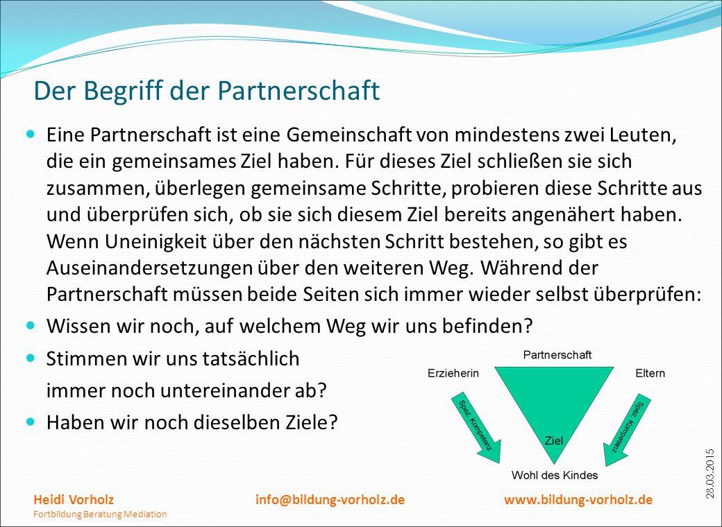 Der Begriff der Partnerschaft