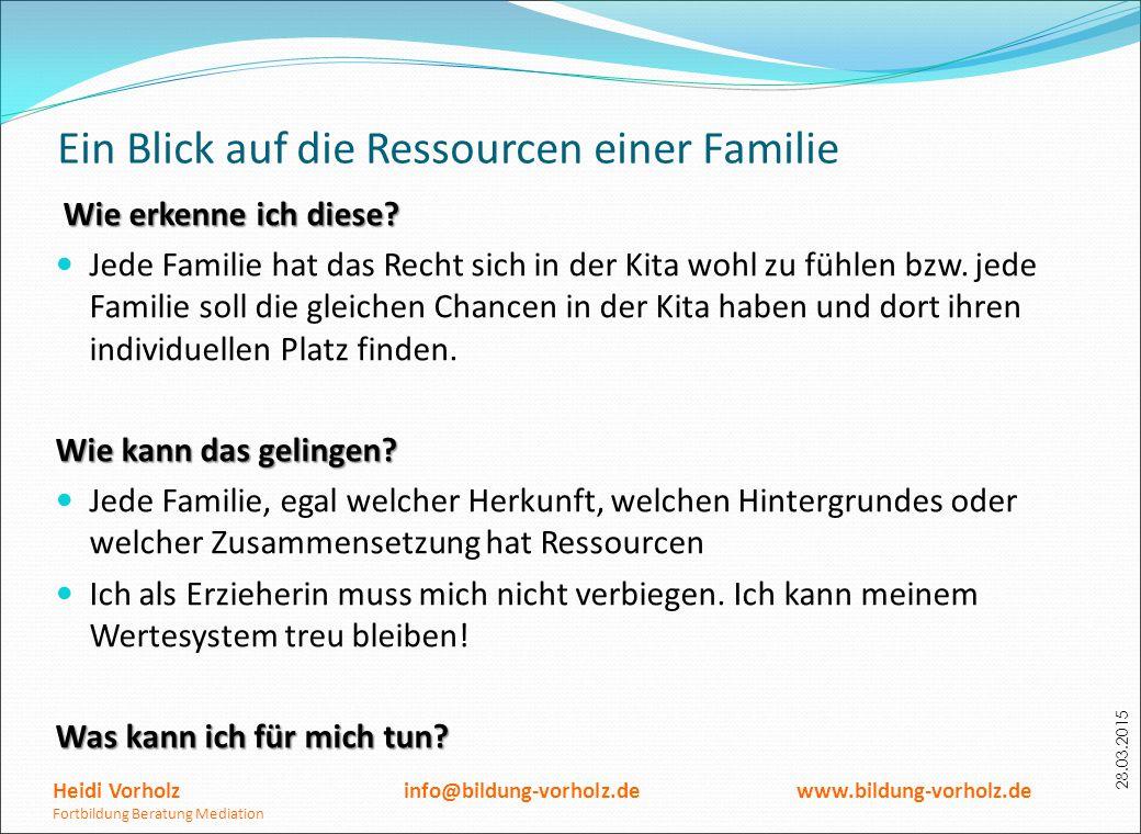 Ein Blick auf die Ressourcen einer Familie