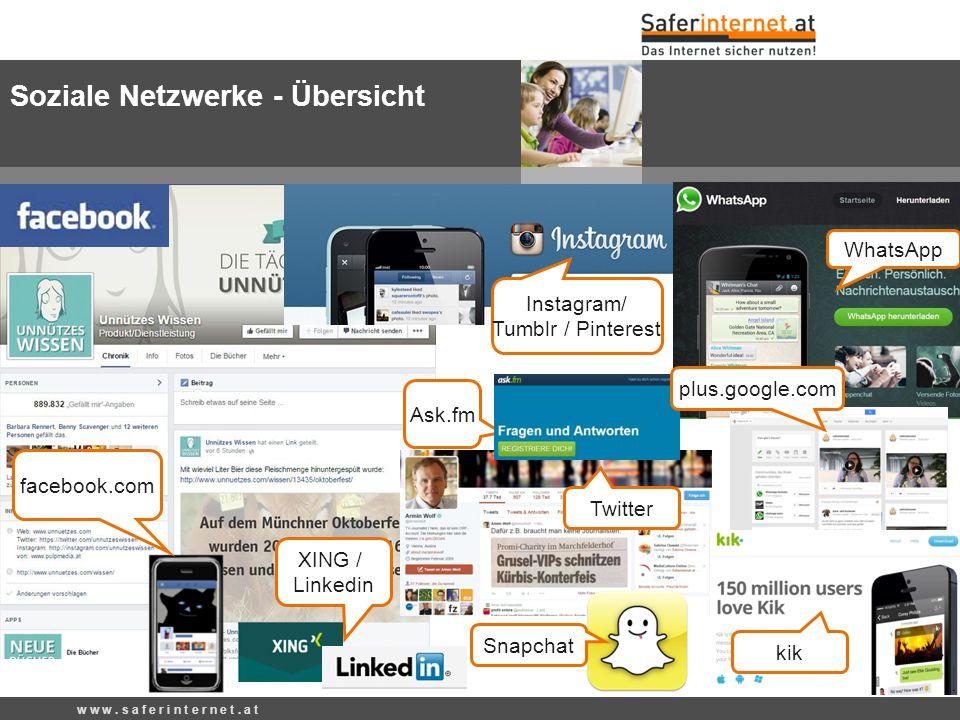 Soziale Netzwerke - Übersicht