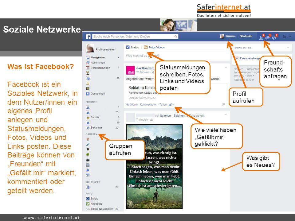 Soziale Netzwerke Freund-schafts-anfragen.