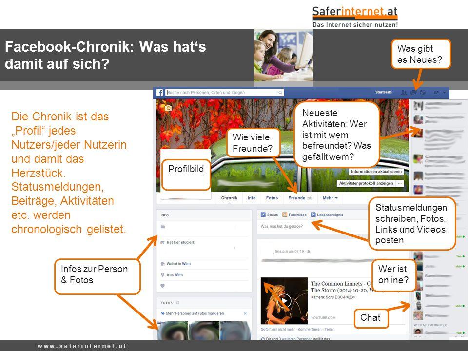Facebook-Chronik: Was hat's damit auf sich