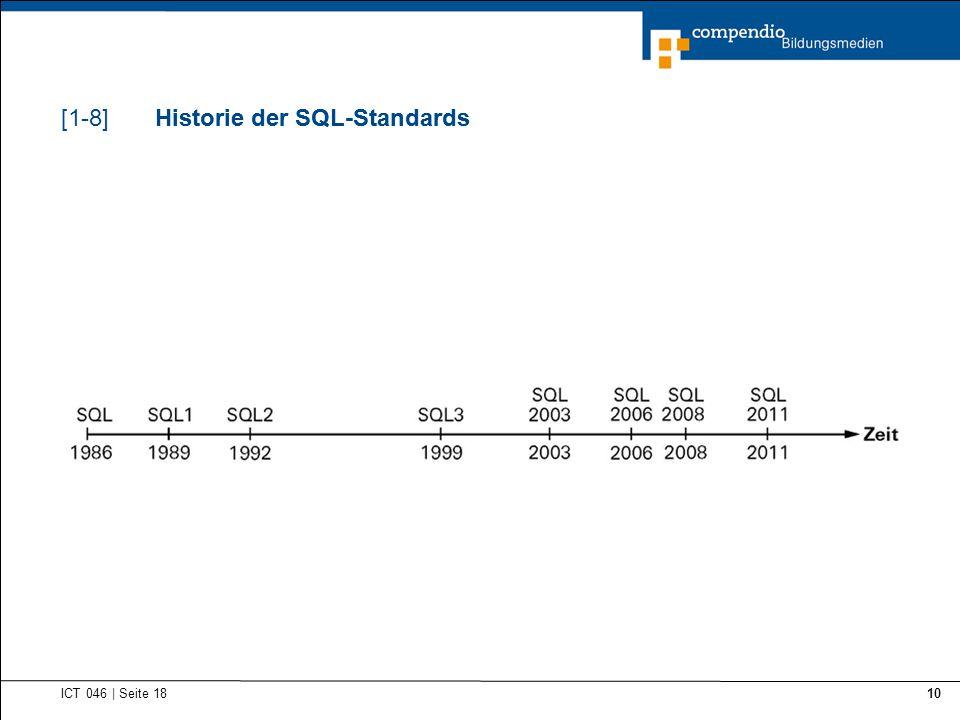 Historie der SQL-Standards Historie der SQL-Standards