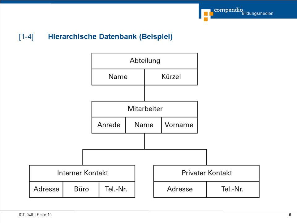 Hierarchische Datenbank (Beispiel) Hierarchische Datenbank (Beispiel)