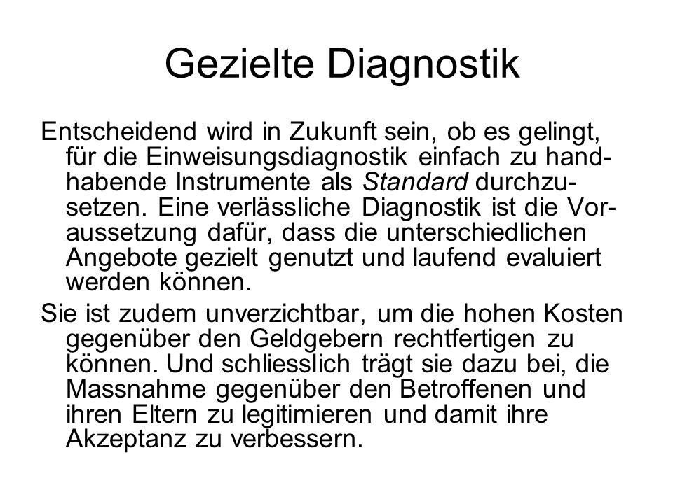 Gezielte Diagnostik