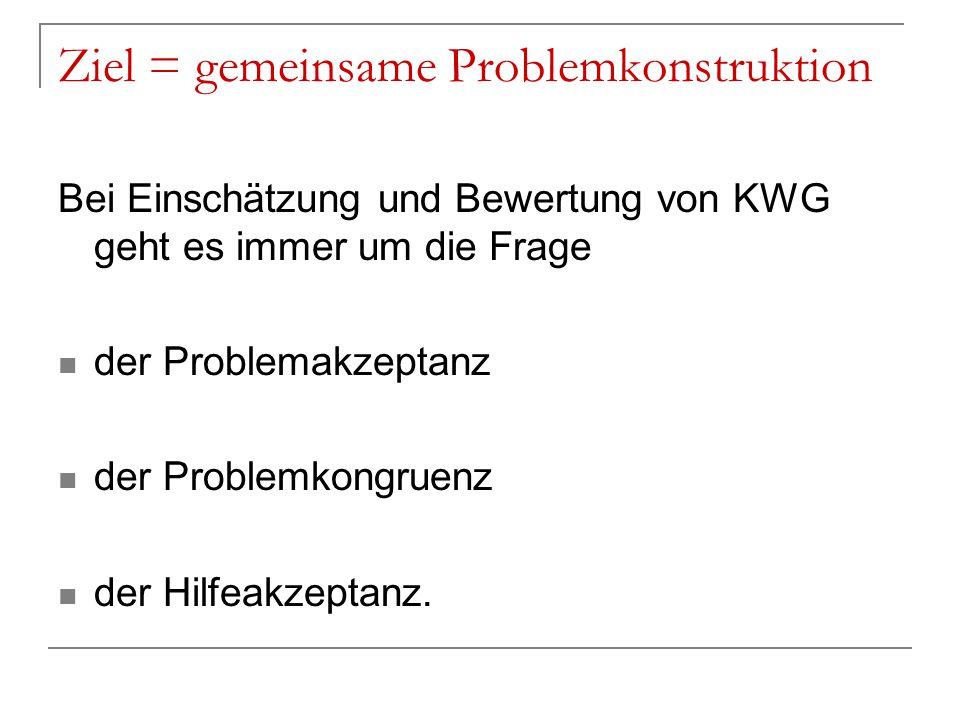 Ziel = gemeinsame Problemkonstruktion
