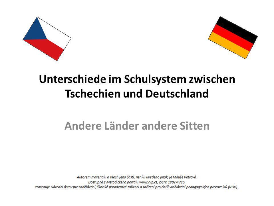 Unterschiede im Schulsystem zwischen Tschechien und Deutschland