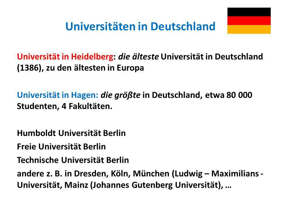 Universitäten in Deutschland