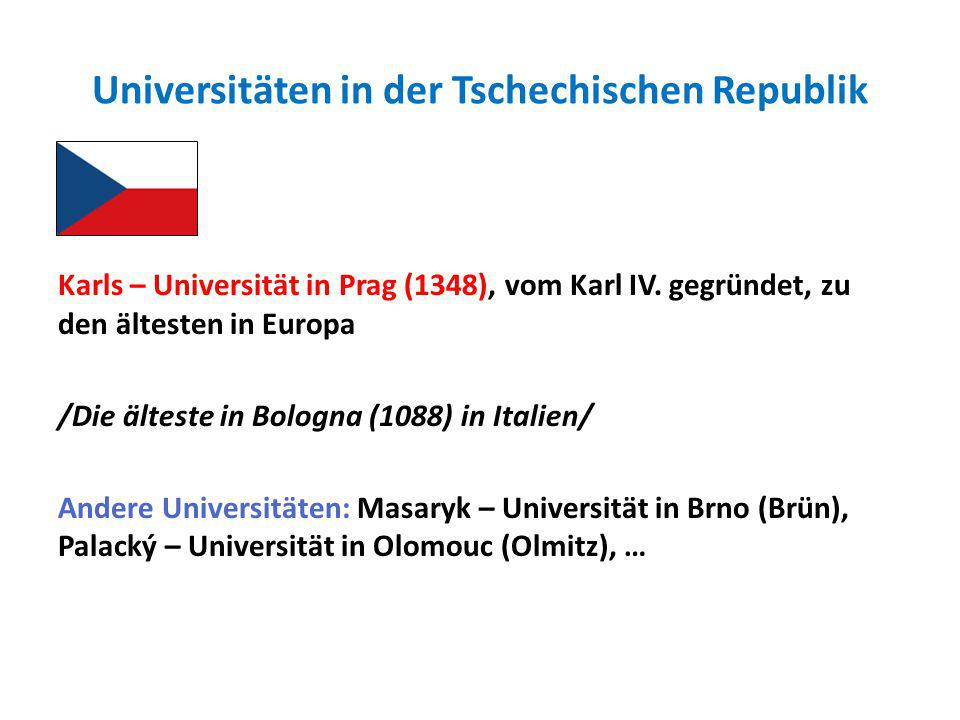 Universitäten in der Tschechischen Republik