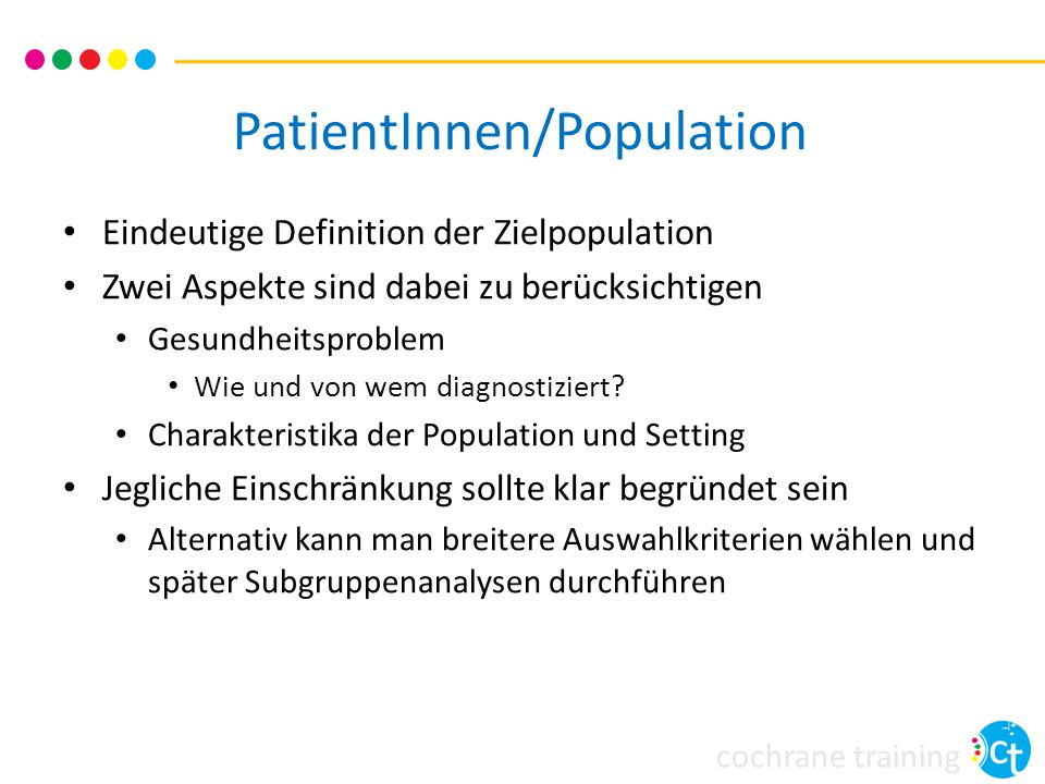 PatientInnen/Population