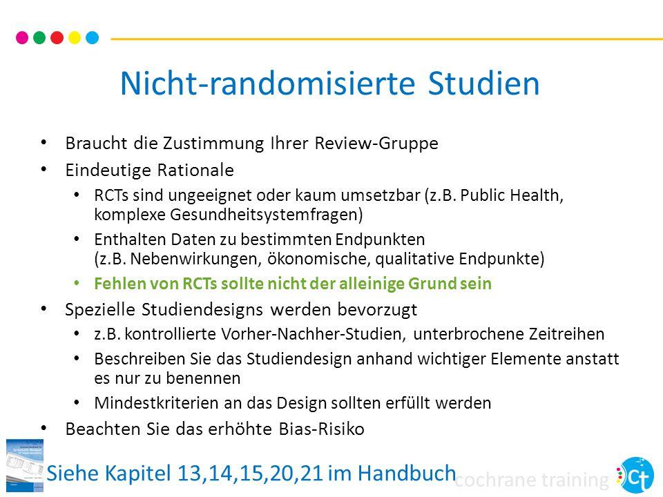 Nicht-randomisierte Studien