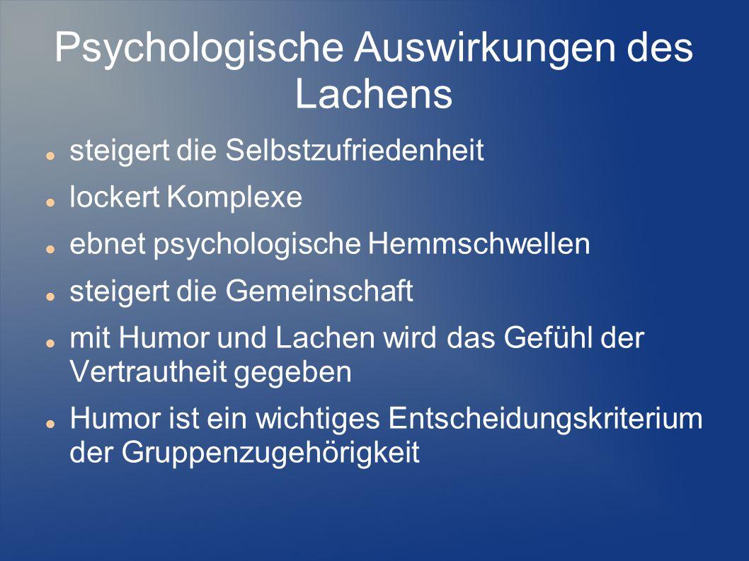 Psychologische Auswirkungen des Lachens