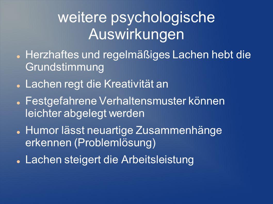 weitere psychologische Auswirkungen