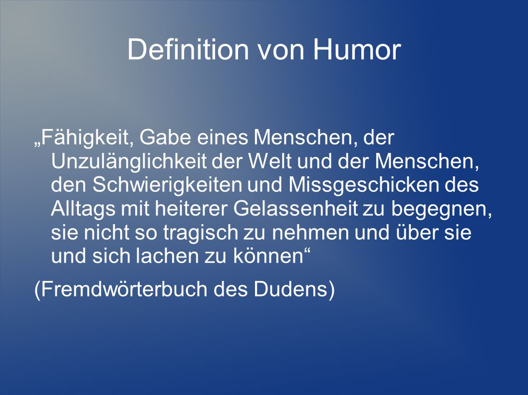 Definition von Humor