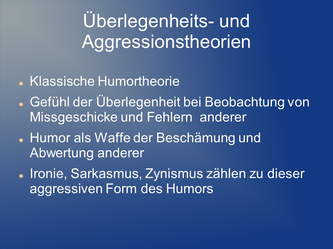 Überlegenheits- und Aggressionstheorien