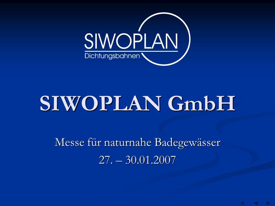 Messe für naturnahe Badegewässer 27. – 30.01.2007