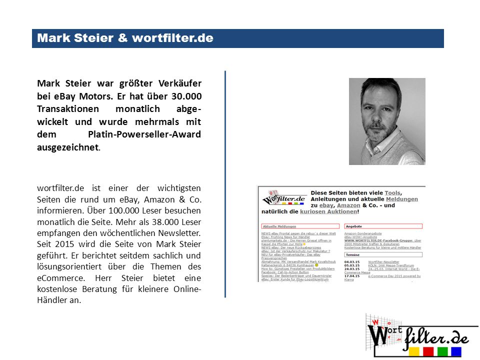 Mark Steier & wortfilter.de