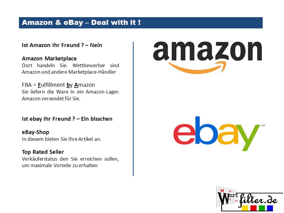 Amazon & eBay – Deal with it !