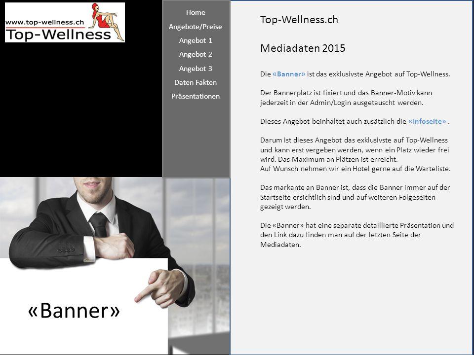 «Banner» Top-Wellness.ch Mediadaten 2015 Home Angebote/Preise