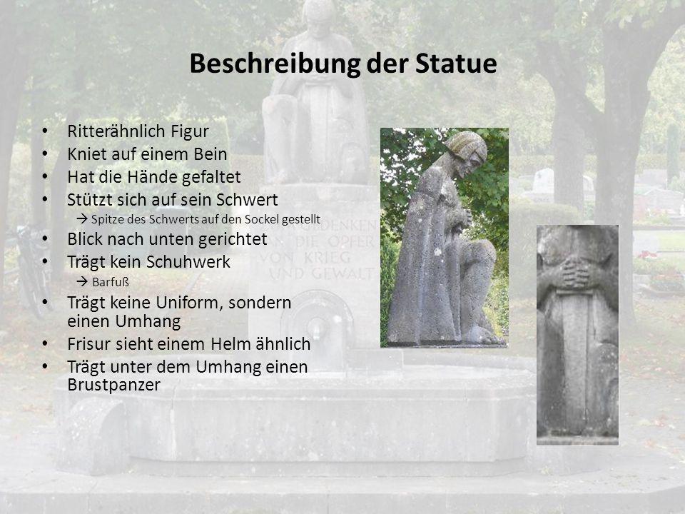 Beschreibung der Statue