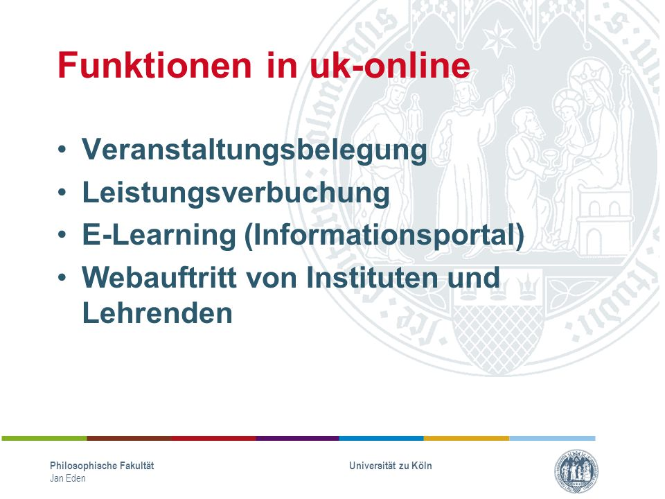 Funktionen in uk-online