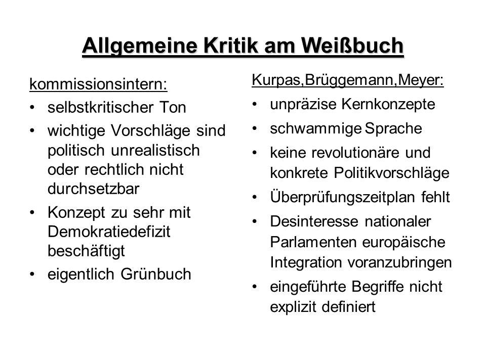 Allgemeine Kritik am Weißbuch