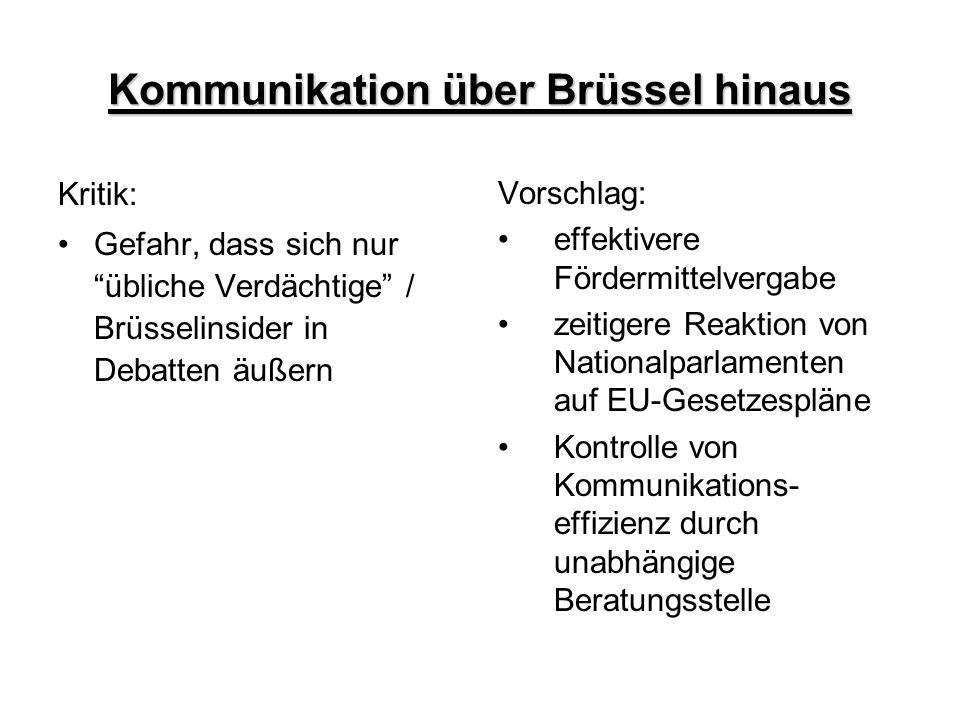 Kommunikation über Brüssel hinaus