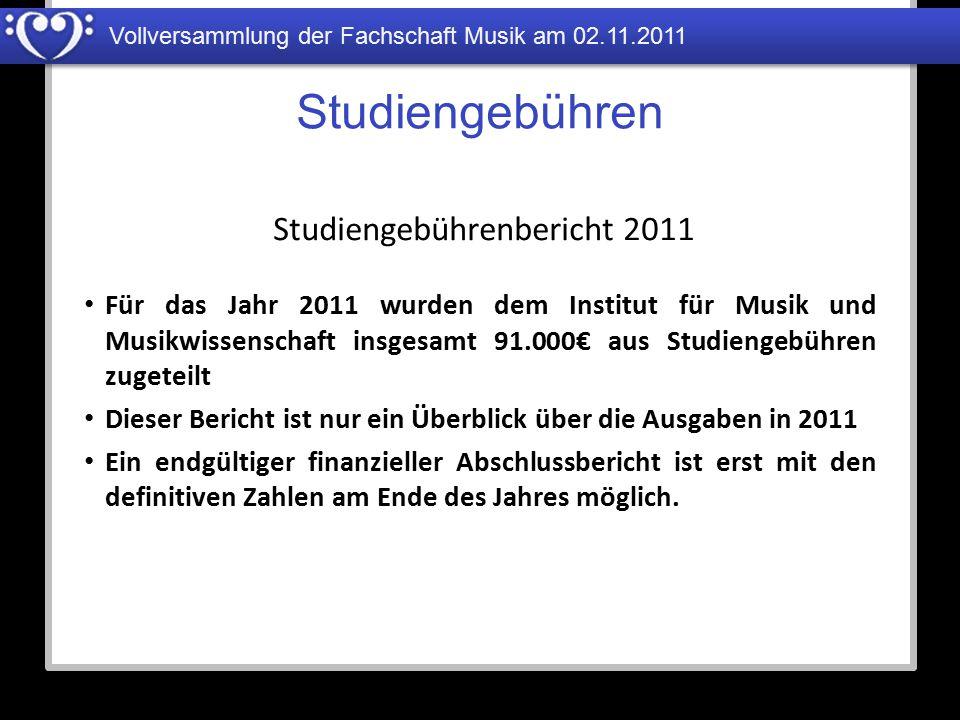 Studiengebührenbericht 2011