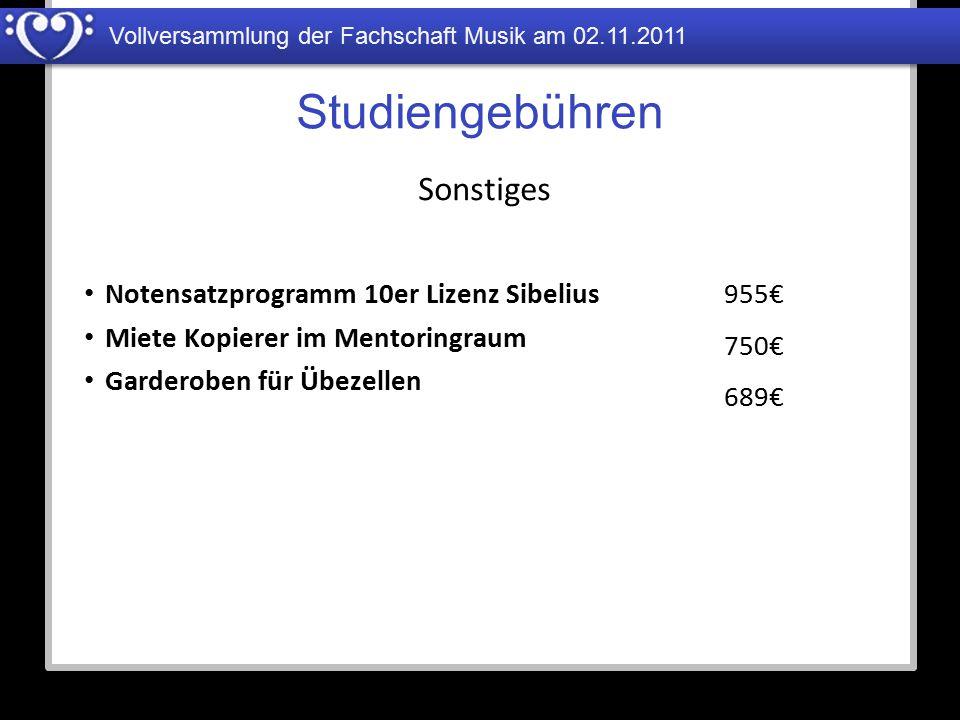 Studiengebühren Sonstiges Notensatzprogramm 10er Lizenz Sibelius